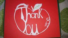 Caterpillar thank you apple papercut