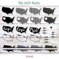 18 USA svg | USA map | United States | America svg | USA Monogram svg | Usa Decal | Cutting Files for Cricut, Silhouette, Die Cut by KellyLollarDesigns on Etsy