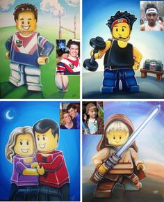 Order your own custom Lego Portrait - what an amazing gift idea!