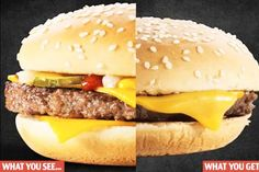 One McBurger with lies, please: Fast-food firm's own video reveals why items on the menu never look like what you are served