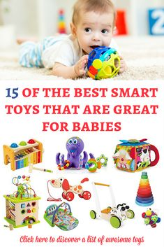 If you are looking for some smart toys for babies, here is a list of our favorite recommendations! They are awesome and I hope that they will inspire you! | Toys for babies | Gift guide for baby | Christmas gifts