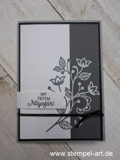 Stampin Up Karten, Stampin Up Cards, Stamping Tools, Stamping Up, Vintage Scrapbook, Scrapbook Cards, Black And White Theme, Card Tricks, Embossed Cards
