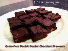 GF Double Double Chocolate Brownies. more like flourless chocolate cake but no less delicious. (yup, there are carrots in there)