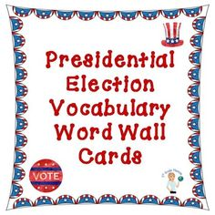 Use these Presidential Election vocabulary cards to familiarize your students with the language of our elections. Included in this freebie are 24 election terms, specific to the…