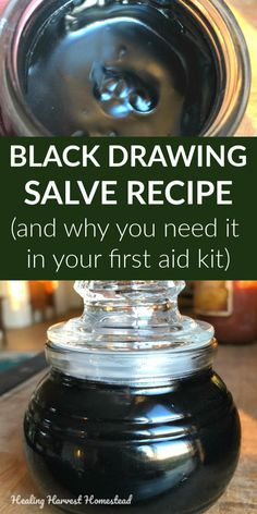 Ever wonder what black salve is + what it's used for? Here are the answers, along with my favorite recipe for this special drawing salve of all time . You can make this Black Drawing Salve easily and quickly. Trust me: you need this in your medicine Healing Herbs, Natural Healing, Natural Oil, Holistic Healing, Natural Beauty, Medicinal Herbs, Natural Health Remedies, Herbal Remedies, Cold Remedies