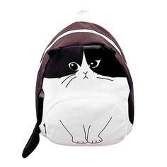 Women Canvas Backpack Lovely Cat Printing Backpacks School Bags For Teenagers Ladies Casual Cute Rucksack Bookbags Sac Mochilas Girl Backpacks, School Backpacks, Canvas Backpacks, Stylish Backpacks For Men, Canvas Travel Bag, Cat Backpack, Travel Backpack, Cat Bag, School Bags For Girls