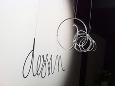 Shadow Lettering Wire, light and shadow messages - Type Worship