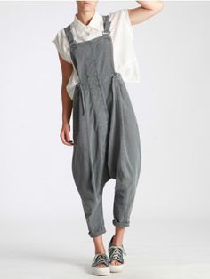 OVERALLS MADE OF RUSTIC COTTON WITH MILITARY DYE - JACKETS, JUMPSUITS, DRESSES, TROUSERS, SKIRTS, JERSEY, KNITWEAR, ACCESORIES - Woman -