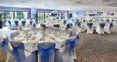 Hilton Cobham hotel - Brooklands Suite Banquet Style Surrey Wedding venue Capacity up to 300 guests