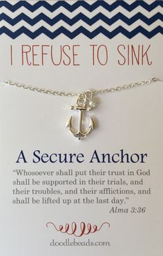 Love this for a YWIE gift i refuse to sink a secure anchor