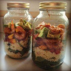 Mason Jar Meals - Shrimp with Avocado Mango Salsa
