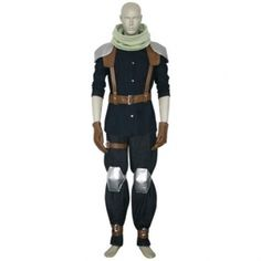 Final Fantasy VII Crisis Core Cloud Strife Cosplay Costume. The item Includes: Shirt, Scarf, Pants, Belt, Gloves.