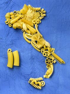 Map of Italy Made from Pasta