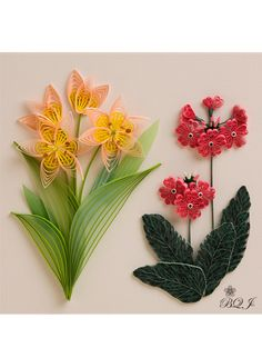 By Artist Yukari Ishimoto, from Japanese Botanical Quilling Gallery