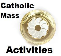 Catholic Mass Activities for Kids including crafts, prayers, games, and first communion ideas.