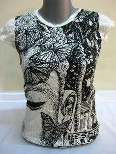 T-Shirt Butterfly Buddha für Frauen von Sure Design aus Thailand