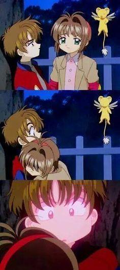 La primera vez que Shaoran se puso rojo por Sakura.❤  ------> The first time that Shaoran turned red for Sakura! XD Episode 27