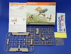 The Eduard Airco DH.2 in 1/48 scale from the plastic aircraft model range accurately recreates the real life Royal Airforce fighter aircraft flown during World War I. This plastic aircraft kit requires paint and glue to complete.