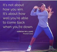 Serena Williams Teaches Tennis at Master Class - Frauen-Sportbewegungen Tennis Clubs, Tennis Players, Badminton, Master Class, Serena Williams Quotes, Game Day Quotes, Player Quotes, How To Play Tennis, Athlete Quotes