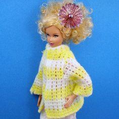 Barbie Loose Knit Striped Sweater