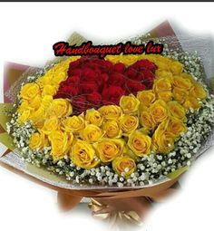 Buket bunga mawar mewah Rp 1.500.000