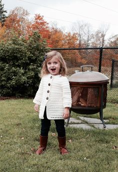 Isabella Cardigan (Cairbre) – Crocheted Little Ones