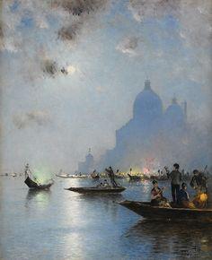 Wilhelm von Gegerfelt: Venice at Dusk, 1883.