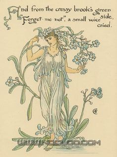 Flora's Feast (1889) p. 24 by Walter Crane  (A Fairy's Festival of Flowers)