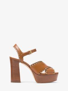e825287b8ceb Michael Kors Jessie Leather Platform Sandal - 5.5