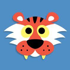 Masketeers Printable Masks: Printable Tiger Mask