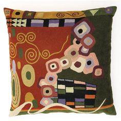 Zaida Klimt 45x45cm Cushion, Brown/Green