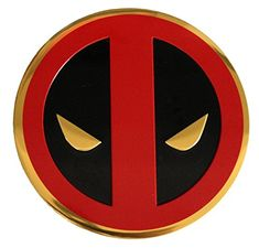 CD Visionary Marvel Extreme Classic Deadpool Icon On Gold Metal Sticker 8cm
