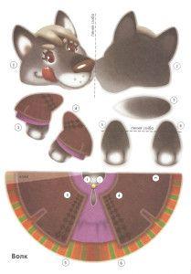 колобок Animal Crafts, Pet Accessories, Paper Dolls, Origami, Kindergarten, Paper Crafts, Clip Art, Kids Rugs, Play