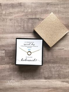 BRIDESMAID proposal / necklace proposal / bridesmaid gift /
