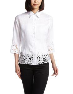 Amazon: (ナラ カミーチェ)NARA CAMICIE リネンカットワークレースシャツ