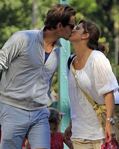 ❤️  Roger Federer and wife