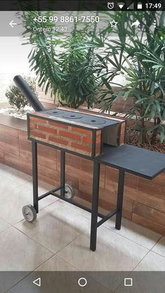 Gas Grill On Wood Deck – Deck for Houses Outdoor Kocher, Outdoor Stove, Rocket Stoves, Camping Stove, Bbq Grill, Outdoor Cooking, Backyard, House Design, Outdoor Decor