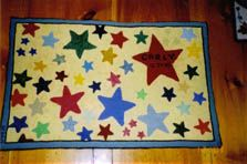 """my granddaughter Carly's """"baby"""" rug (hooked by me, Kathy Osborn)"""