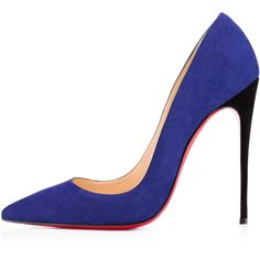 Christian Louboutin So Kate (2.380 BRL) ❤ liked on Polyvore featuring shoes, pumps, heels, christian louboutin, louboutin, navy blue pumps, christian louboutin pumps, pointed-toe pumps, suede pumps and sexy pumps