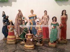 Ciganas - Diversos modelos e tamanhos. ArtCunha Artesanato em Gesso. Imagens de Gesso, com ou sem pintura. Est. Bandeirantes, 829, Taquara, Rio de Janeiro, RJ. Tel: (21) 2445-1929 / 8558-3595. #Estatua #Estatuas #Escultura #Esculturas #Cigana #Ciganas #Cigano #Ciganos