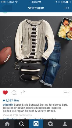 I like this whole look!  Love the sweater and striped t!  Stitch fix hook me up!!!