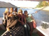 On the Nile in Egypt, hey that's us!