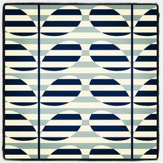 blue stripe Orla Kiely