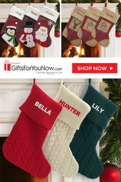 d94561a0d No house is complete without personalized Christmas stockings hanging by  the fireplace waiting for a visit