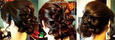 Downton Abbey inspired bridal updo