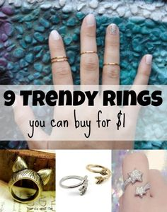 9 Trendy Rings You Can Buy for $1 | eBay