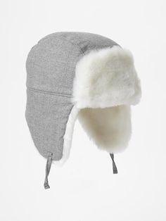 Baby boy furry trapper hat Gap $19.95
