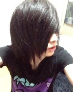 long hair man - emo boy