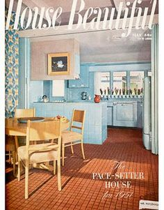 This May 1951 issue of House Beautiful shows textiles based on Mariska's on display in a trend-setting house.
