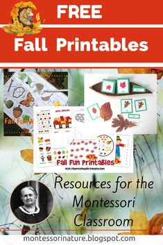 Free Fall Printables from Montessori Nature